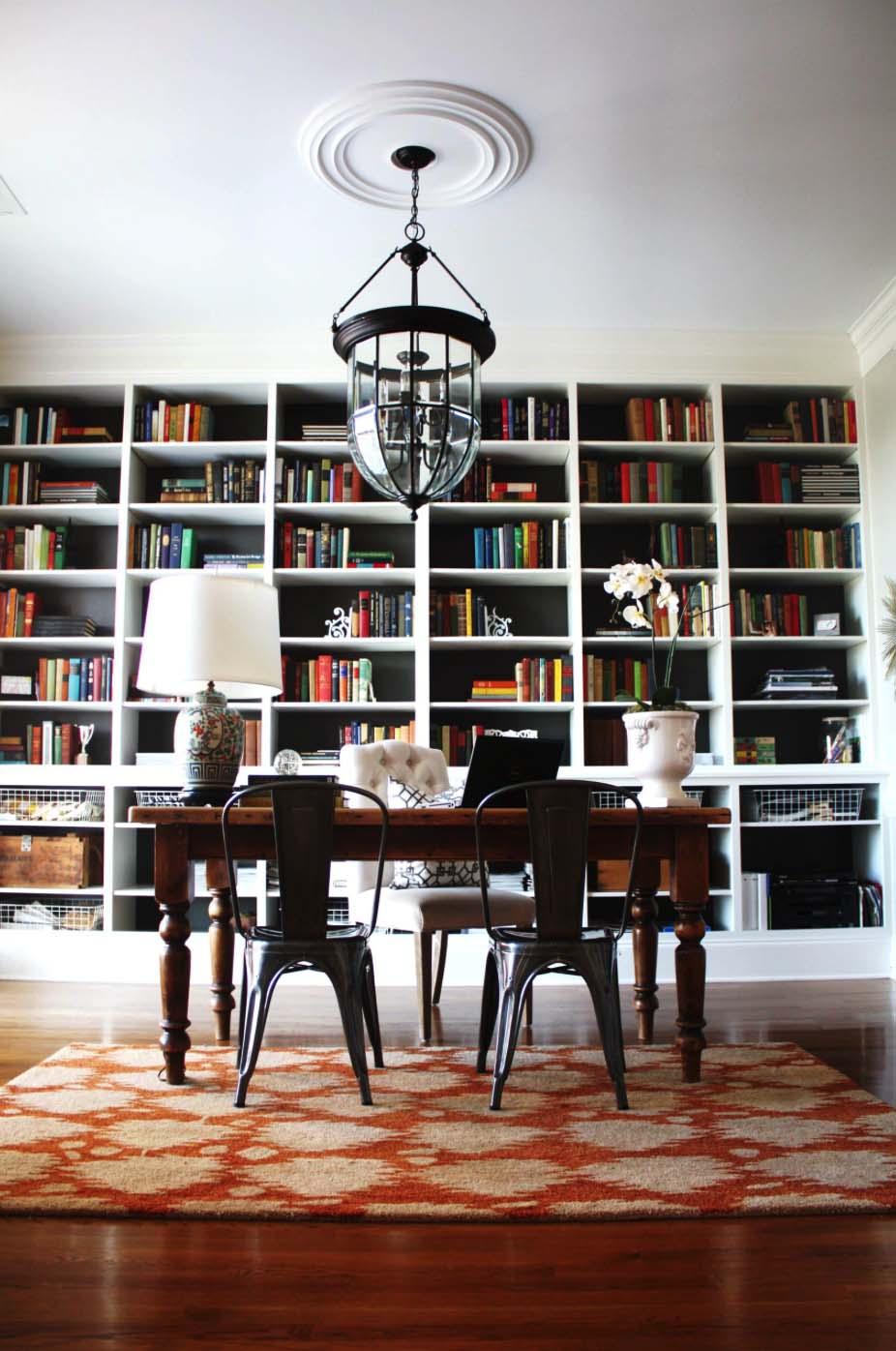 Home Office Library Design Ideas from www.amusinginterior.com